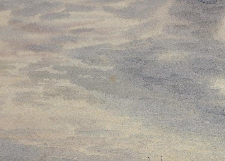 Norwegian Barques at Anchor, Devon. Victorian.Marine Art. Original Watercolor. For Sale 3