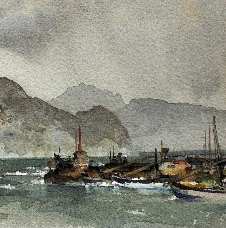 Sir William Russell Flint, bamburgh, sands, watercolour