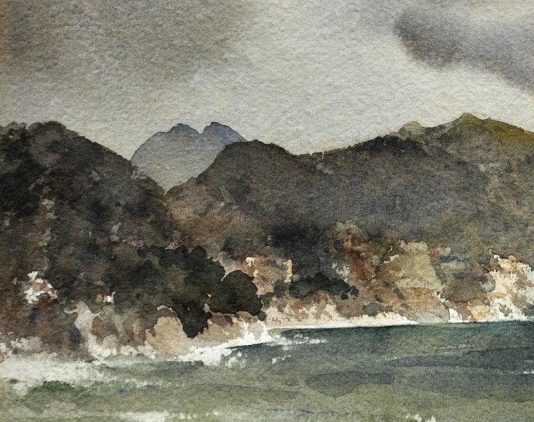 William Russell Flint - Clarissa Impatient - Watercolor