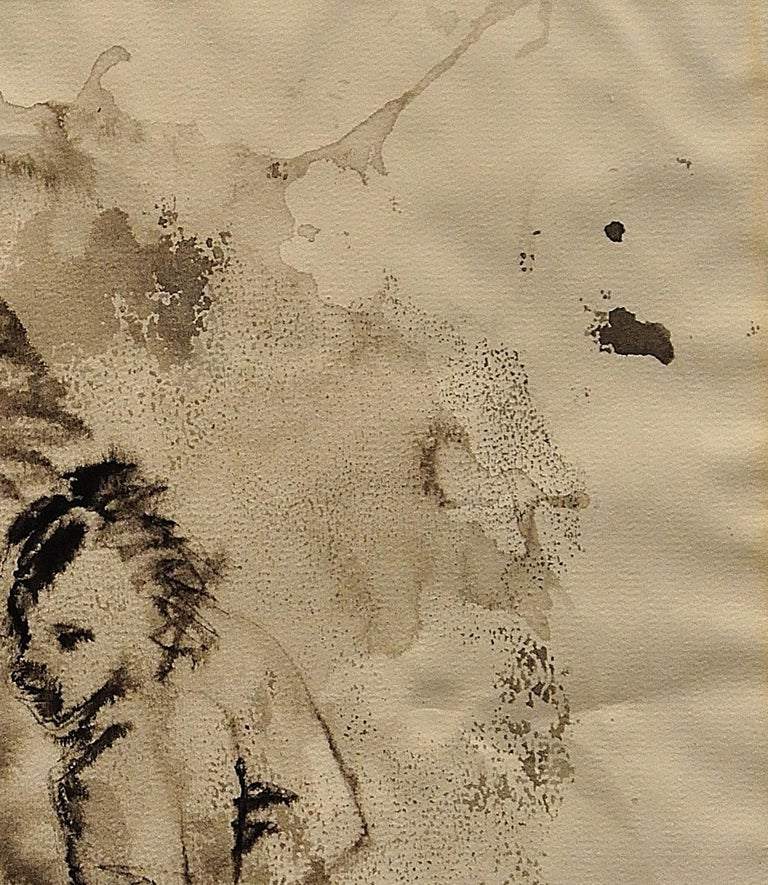 Mother & Child Flee.Vietnam.Human Rights Female Artist.Madness of War.Original. For Sale 4