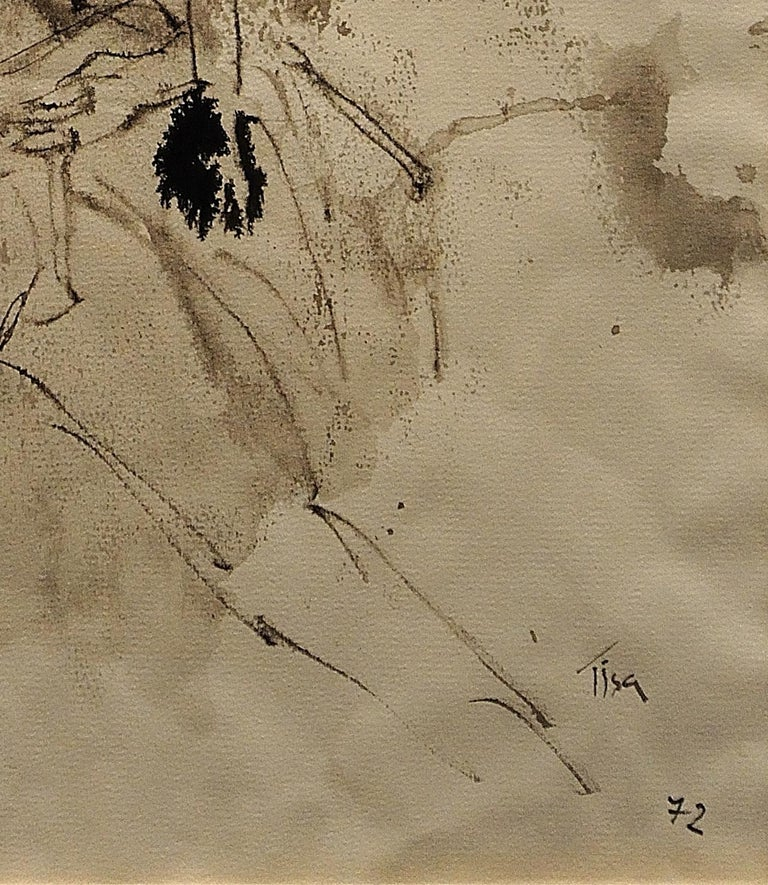 Mother & Child Flee.Vietnam.Human Rights Female Artist.Madness of War.Original. For Sale 6
