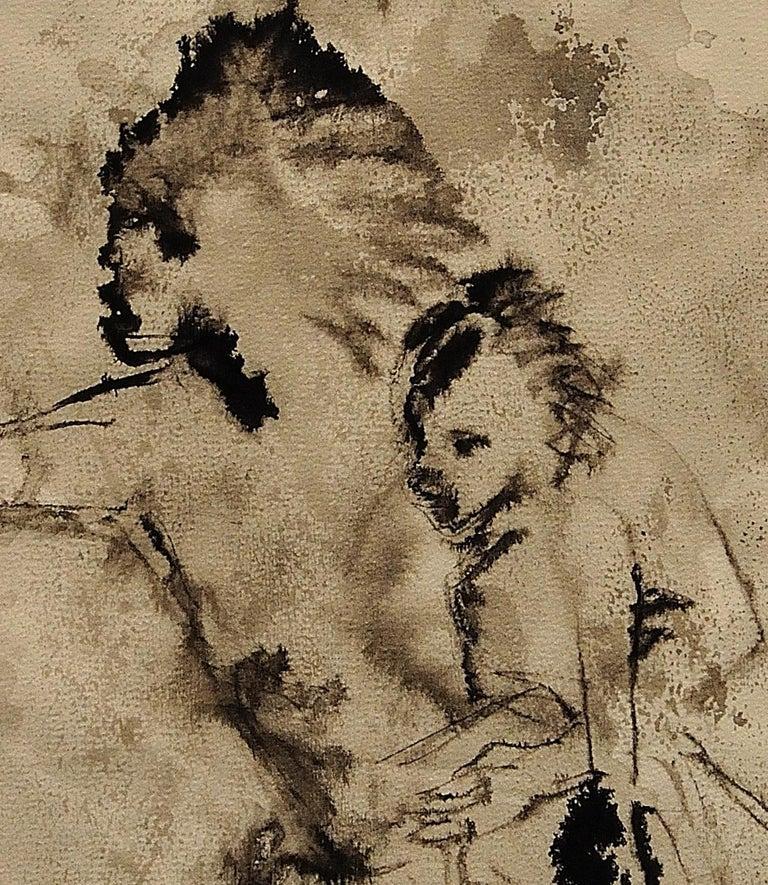 Mother & Child Flee.Vietnam.Human Rights Female Artist.Madness of War.Original. For Sale 7