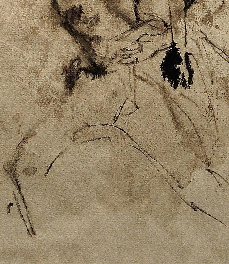 Mother & Child Flee.Vietnam.Human Rights Female Artist.Madness of War.Original. For Sale 8