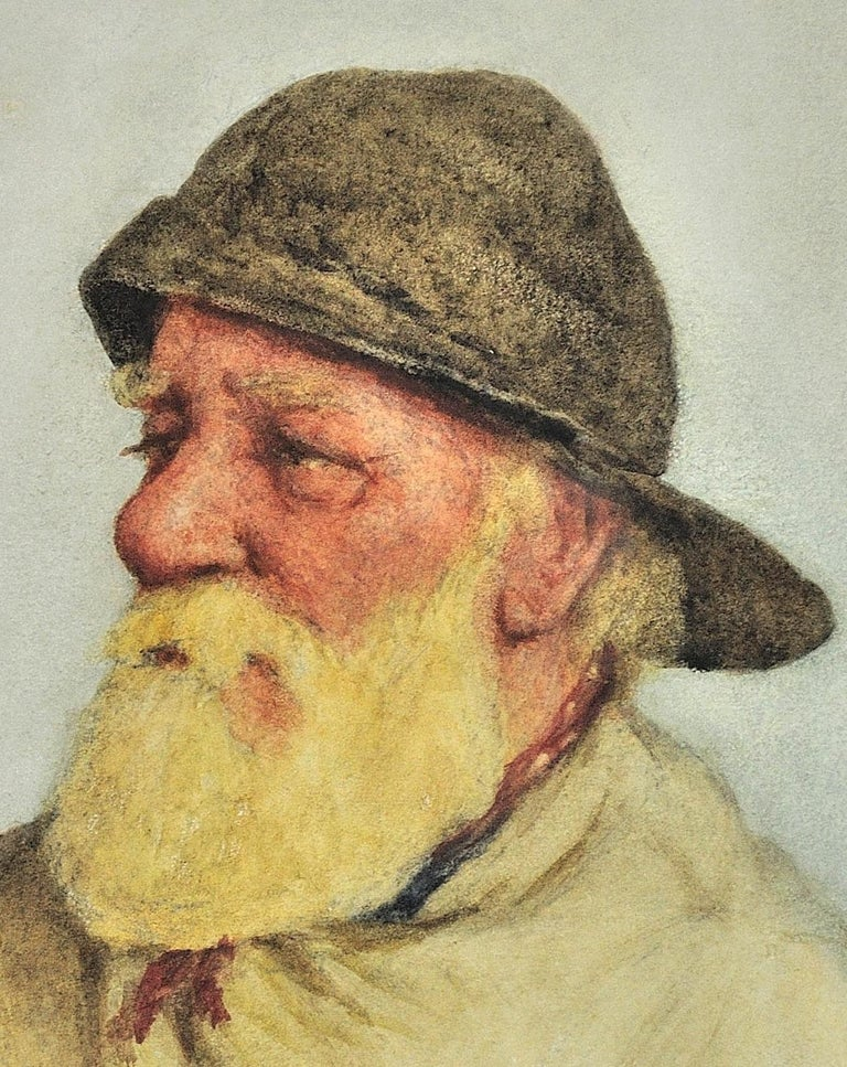 Portrait of a Newlyn Fisherman.Newquay Provenance.Cornwall Fishing Industry 1928 For Sale 8
