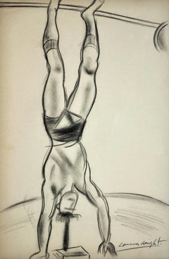 Strength Athlete -  Strongman at the Circus. Original Drawing. Dame Laura Knight