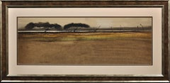 Landscape Study. Original Watercolor. Modern British Welsh. Mid-20th Century.