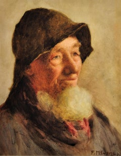Portrait of a Cornish Fisherman. Historical Social Record of Fishing Industry.