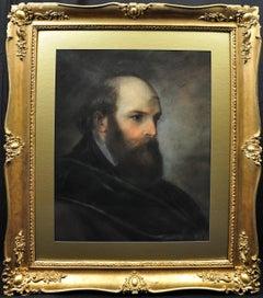 Portrait of a Russian Dignitary. 1846. Original Pastel. French Consul in Russia.