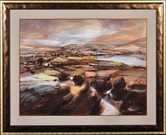 Venture into the Dales. Original Watercolor of Yorkshire. Browns. Modern British