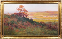 Afon Rheidol River Valley.Wales.Ceredigion.Large Victorian Watercolor.Welsh 1888