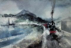 Welsh Highland Railway, Porthmadog, Wales.Modern British. Steam Train. Railroad.