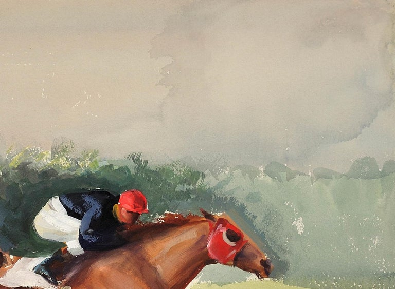 A Tight Finish. 1970.Race Horses. Final Furlong. Equine.Jockeys.Horse Racing. For Sale 5