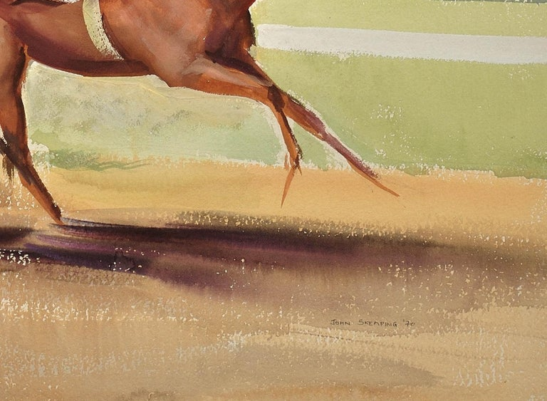 A Tight Finish. 1970.Race Horses. Final Furlong. Equine.Jockeys.Horse Racing. For Sale 7