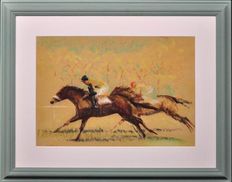 John Rattenbury Skeaping Animal Art - Into the Final Furlong. 1965.Race Horses. Equine.Jockeys.Horse Racing.Racetrack.