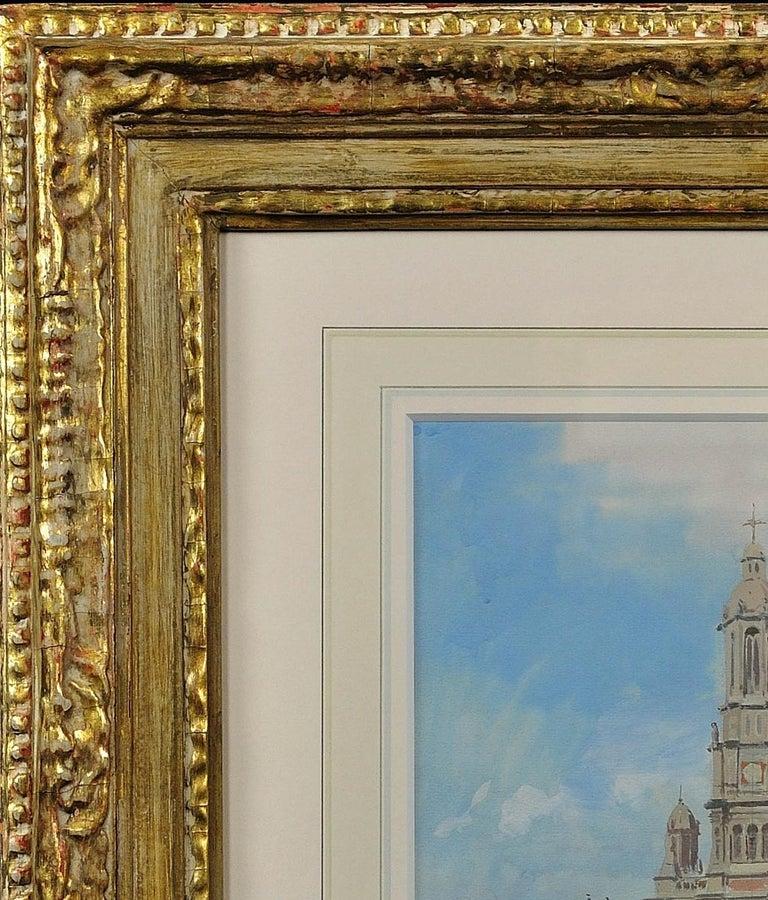 L' Église de la Sainte-Trinité, Place de la Trinité, Paris. Original Watercolor. For Sale 3
