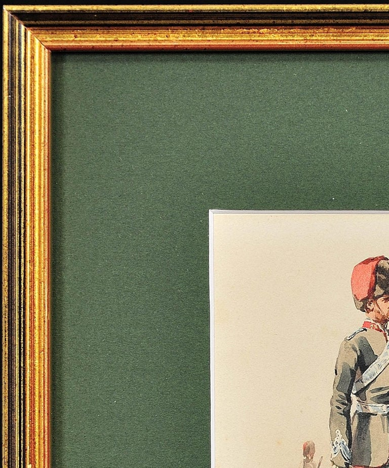 Royal Canadian Horse Artillery Officer.Army. Military Art. Original Watercolor. For Sale 5