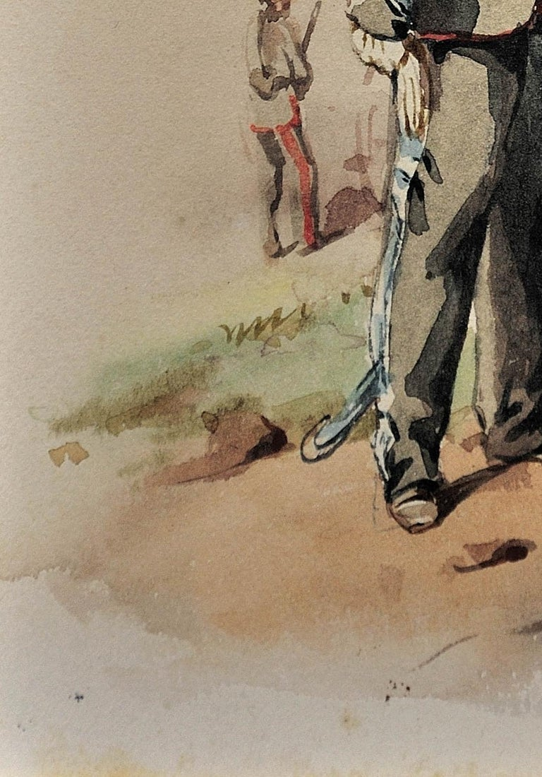 Royal Canadian Horse Artillery Officer.Army. Military Art. Original Watercolor. For Sale 8