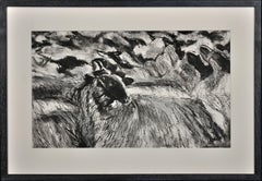 Flock of Sheep. Large Pastel.Modern British.West Wales.Welsh. Animal & Farming.
