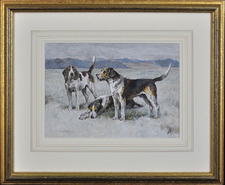Arthur Wardle Animal Art - Welsh Hounds from the Packs of Lieutenant Buckley & the Honourable H.C. Wynn.