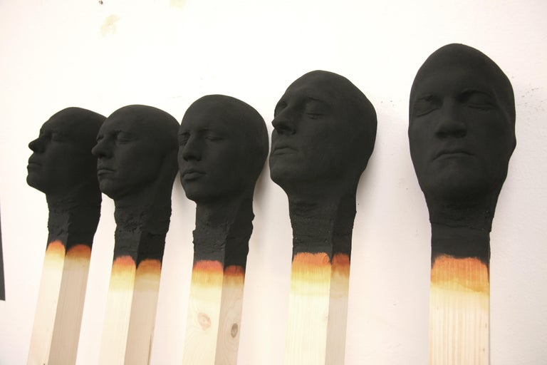 Matchstick Men  - Sculpture by Wolfgang Stiller