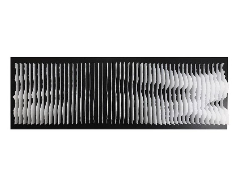 Mareo Rodriguez Abstract Sculpture - Frequencies (white)