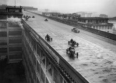 """Rooftop Racing"" Silver Gelatin Print, Turin, Italy 1929"