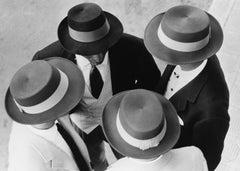"""Italian Hats"" Silver Gelatin Print, San Remo, Italy 1957"