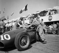 """It's The Pits"" Silver Gelatin Print, 1953 Monza Grand Prix in Italy"