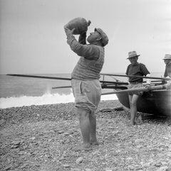 """Thirsty Fisherman"" Silver Gelatin Print, circa 1950 Calabria, Italy"