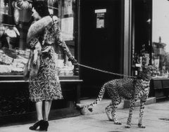 Cheetah Who Shops, 1930s, Silver Gelatin, Archival, Limited, Street, Animal