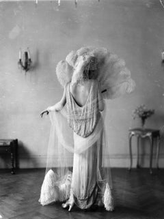 Feathered Gown, 1920s, Silver Gelatin, Archival, Limited, Fashion, Evening wear