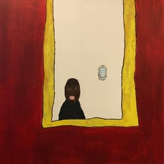 'Markus with bleeding mouth', portrait, young artist, Art naïf, art brut