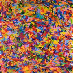 """""""Spectrum Colors Arranged by Chance VII - Fingered""""- abstract, bright, pattern"""