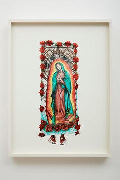 The Road to Tepeyac #104 - colour photography, human figure, religion