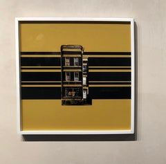 Boswijck 9 ,contemporary minimalist architectural photograph in gold and black