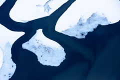 Elements XII- blue and white aerial landscape photograph by Tuck Fauntleroy