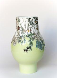 Neon Green Globe Vase 4