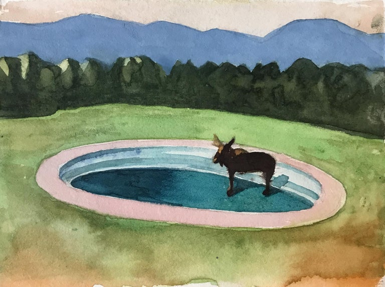 Travis Walker Abstract Drawing - Pool Party #2