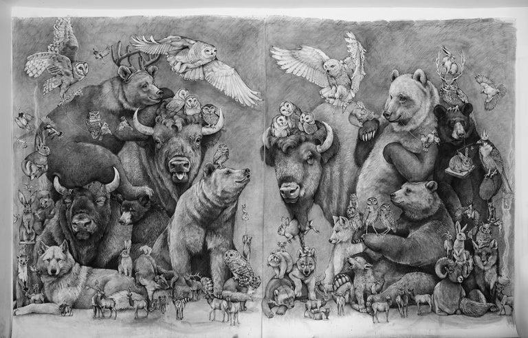 Adonna Khare Animal Art - Bison and Bears