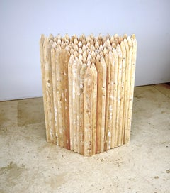 """Point of Departure 4"", Leslie Zelamsky, sculpture, wood, fence, pickets"