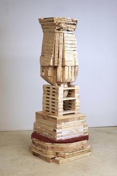"""""""Point of Departure 8"""", sculpture, wood, architectural"""