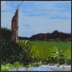 """""""Fort Ann I"""", acrylic, painting, landscape, contemporary, blue, green"""