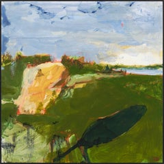 """Ipswich  II,"" John Daly, acrylic, painting, panel, landscape, contemporary"