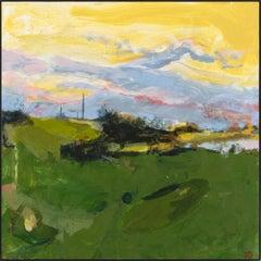"""Ipswich  III,"" John Daly, acrylic, painting, panel, landscape, contemporary"