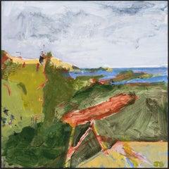 """Ipswich  IV,"" John Daly, acrylic, painting, panel, landscape, contemporary"