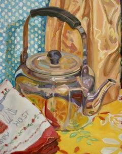 """""""Hostess"""", Jill Pottle, acrylic, oil, still life, retro, ready to hang"""