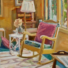"""Lanni's Rental"", Jill Pottle, oil, interiors, high chroma, ready to hang"