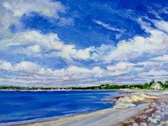 """The Neck I, Marblehead"", Jill Pottle, oil, en plein air, seascape, expressive"