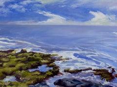 """End of Giant Stairs"", Jill Pottle, oil, en plein air, seascape, expressive"