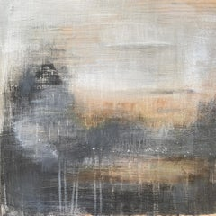"""Translation No. 8 of ""Les Follies d'Espagne"", acrylic, landscape, grey, rust"